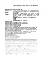 CR DU CONSEIL MUNICIPAL DU 12 AVRIL 2021